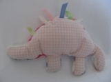 Floral Taggy Stuffed Dinosaur