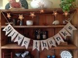 Give Thanks Banner, Thanksgiving Bunting, Bunting Banner, Thanksgiving Garland, Autumn Bunting, Thanksgiving Banner, Thankful Bunting
