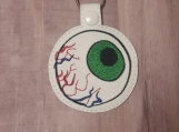 Green Bloodshot Eye, Glitter White