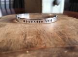 Hand Stamped Bracelet, Cuff Bracelet, Aluminum Bracelet, Stamped Jewelry, Metal Bracelet, Silver Bracelet, Lightweight Bracelet, Engraved