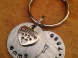 Hand Stamped Dog ID Tag, Stamped Dog Tag, Dog Collar Tag, Dog Tag, Pet ID Tag, Personalized Pet Tag, Personalized Dog ID Tag, Engraved Dog
