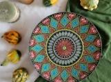 Handmade ceramic decorative plate