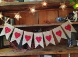 Heart Banner, Love Bunting, Valentines Day Bunting, Valentines Day Banner, Valentines Day Garland, Valentines Pennant, Valentine