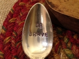 Inspirational Spoon, Hand Stamped Coffee Spoon, Stamped Tea Spoon, Hostess Gift, Friend Gift, Silver Teaspoon