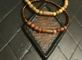 Jasper gemstone  and wood bracelets - 2 pieces