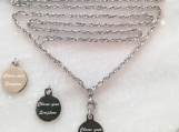 Interchangeable Christian bible verse Scripture necklace set