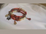 Memory wire charm  bracelet (Italian gemstones)