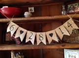 Save the Date Banner, Wedding Decor, Photo Prop, Wedding Bunting, Burlap Bunting, Pennant, Garland