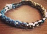 Simple Cobra Weave Yarn Bracelet