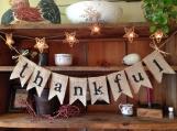 Thankful Burlap Banner, Thankful Bunting, Thanksgiving Decor, Autumn Bunting, Fall Banner, Autumn Garland, Fall Bunting, Holiday Decor