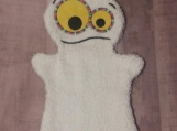 Bath Buddy Puppet, White Monster