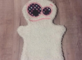Bath Buddy Puppet, White with polka dot Monster