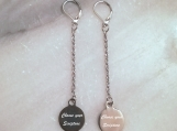 Christian bible verse scripture earrings - steel -made in Canada