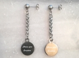 Christian bible verse scripture stud earrings made in Canada