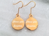 Christian scripture bible verse earrings made in Canada - Gold