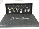 Christmas Wine Glass Charms In A Box - Free Sipping