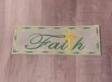 Faith Cross Bookmark, green