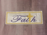 Faith Cross Bookmark, purple lettering