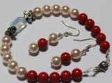 Handmade crystal bracelet earring set Christmas holidays