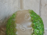 Handmade Light Green Christmas Bauble - Free Shipping