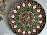 Home decor | Decorative Plate | Mandala | For Mom from son | Gif