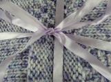 Knitted Thick Lilac Patterned Baby Blanket