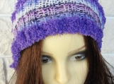 Knitted Women's Multicoloured Winter Pompom Hat - Free Shipping