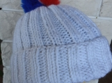 Knitted Women's Winter Pat With French Pompom - Free Shipping