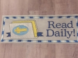 Read Daily Bible Bookmark, blue