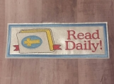 Read Daily Bible Bookmark, light blue