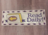 Read Daily Bible Bookmark, purple