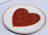 Red Heart | Handmade Decorative plate | Wall decor