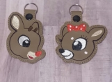 Rudolph and Clarice Keychain Set
