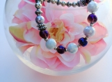 Silver plated and purple -