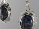Sodalite in Sterling Silver Earrings