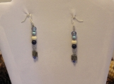 Swarovski cystal bead earrings sterling silver plated wire earring hooks