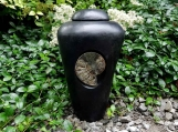 Urn  with Large Ammonite Fossil