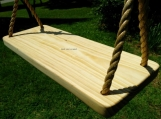 Wood Tree Swing- Appalachian 4 Hole w/ 20 ft of rope