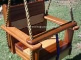 Wood Tree Swing- Oakipele Kids Seat Swing w/ 11 ft of rope