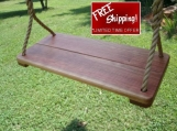 Wood Tree Swings- Cherry Wide w/ 11 ft of rope