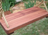 Wood Tree Swings (Sapele 1 3/4 Inch Wide Thick) w/ 11 ft of rope