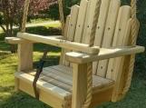 Wood Tree Swings- Sun Burst Poplar Toddler Seat w/ 11 feet rope