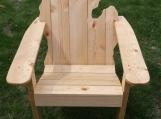 Adirondack Chair Of Michigan, Mitten Chair, White Pine