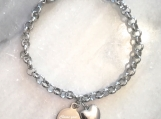 Christian bible verse heart charm bracelet from Canada - steel