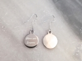 Christian scripture bible verse drop earrings in steel
