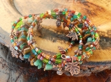Copper Forest Memory Wire Bracelet