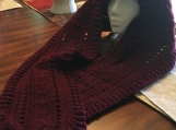 Crochet Hooded Scarf (Include a free gift)