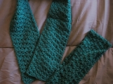 Crochet scarf and cowl set