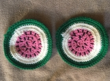 Crochet Watermelon Coasters