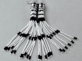 Extra Long Beaded Earrings Bead Crochet Black and White